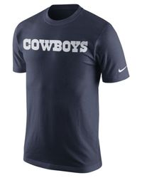 Nike - Blue Men's Dallas Cowboys Mesh Wordmark T-shirt for Men - Lyst