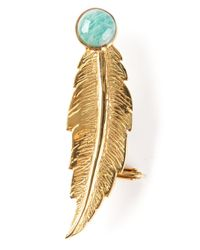 Leivan Kash - Metallic Feather Ear Cuff - Lyst