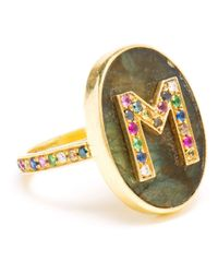 Carolina Bucci | Multicolor 'M' 18Kt Gold Ring | Lyst
