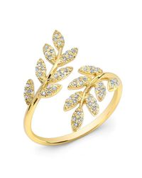Anne Sisteron | Metallic 14kt Yellow Gold Diamond Branch Ring | Lyst