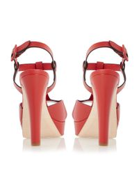 Dune Black | Pink Marykate Platform Block Heel Sandals | Lyst