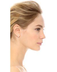 Noir Jewelry - Black Bolt Earrings - Rhodium - Lyst