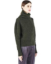 Acne Studios - Green Voletta Mohair Roll Neck Sweater - Lyst