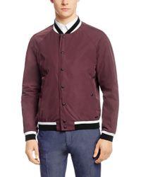 HUGO | College Jacket 'barlin' In A Solid-coloured Design for Men | Lyst