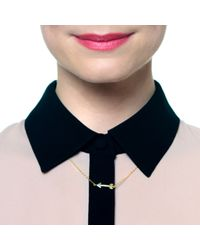 Lulu Frost - Metallic Code 14kt Arrow Necklace - Lyst