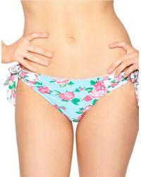 Betsey Johnson - Blue Garden Rose Hipster Bikini Bottom - Lyst