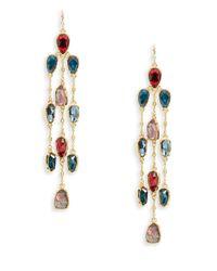 Lauren by Ralph Lauren | Multicolor Stone Chandelier Earrings | Lyst