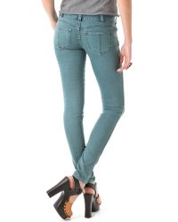Free People | Blue Millennium Colored Skinny Jeans | Lyst