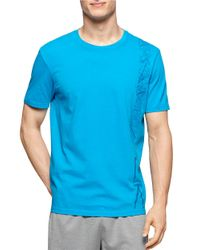 Calvin Klein | Blue Cotton Crewneck Tee for Men | Lyst