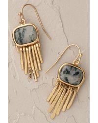 Anthropologie - Green Juniper Fringe Earrings - Lyst