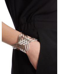 Jaeger - Metallic Knot Cuff - Lyst