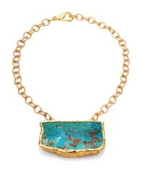 Nest | Blue Chrysocolla Pendant Necklace | Lyst