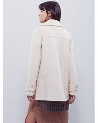 Free People - Natural Womens Oversized Peaco - Lyst
