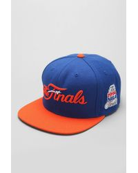 new style 68c5c 529a9 Mitchell   Ness. Men s Blue Mitchell Ness Finals New York Knicks Snapback  Hat