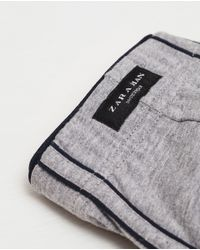 Zara | Gray Plain Boxers With Interior Band for Men | Lyst