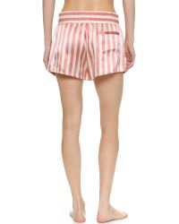 Morgan Lane - Pink Corey Silk Shorts - Candy - Lyst
