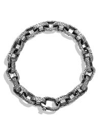 David Yurman - Metallic Iron Wood Oval Small Link Bracelet - Lyst