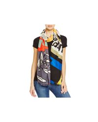 Marc By Marc Jacobs - Protest Scarf - True Blue Multi - Lyst
