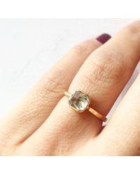 Melissa Joy Manning | Metallic Pale Yellow Old Mine Cut Diamond Ring | Lyst