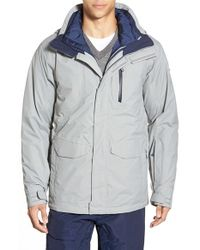 The North Face Gray Thermoball Triclimate 3-in-1 Waterproof Snow Jacket for men