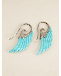 Noor Fares - Blue Wing Earrings - Lyst