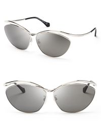 Balenciaga - Metallic Cat Eye Sunglasses - Lyst