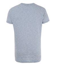 Paul Smith   Blue Stripe Cotton T-shirt for Men   Lyst