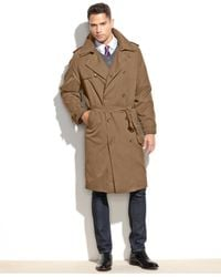 London Fog | Natural Iconic Belted Big And Tall Trench Raincoat for Men | Lyst
