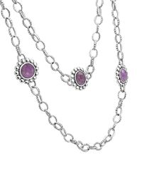 Lagos - Purple Maya Silver Charoite Station Necklace - Lyst