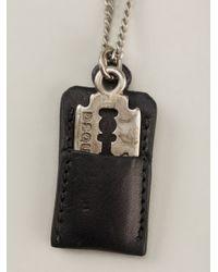 DSquared² - Metallic Razor Blade Necklace for Men - Lyst