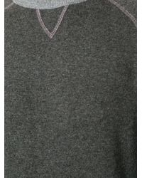 Moncler | Gray Twotone Jumper for Men | Lyst