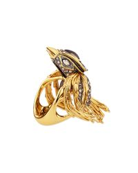 Alexis Bittar - Metallic Starling Bird Ring with Labradorite and Crystals - Lyst