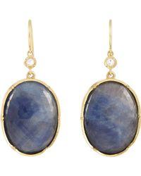 Irene Neuwirth - Blue Diamond & Sapphire Slice Double - Lyst