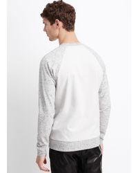 VINCE | Gray Flecked Luxe Knit Raglan Crew Neck Sweatshirt for Men | Lyst
