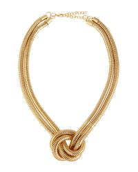 Kenneth Jay Lane | Metallic Golden Knotted Snake-chain Necklace | Lyst