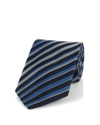 BOSS - Blue 'tie 7.5 Cm' | Regular, Silk Striped Tie for Men - Lyst