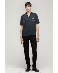 Rag & Bone - Gray Bowling Shirt for Men - Lyst