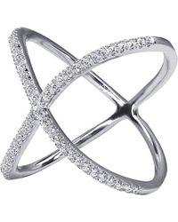 Carat* | Crux Millennium White Gold Finish Ring | Lyst
