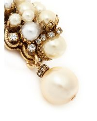 Erickson Beamon | Metallic 'grapes Of Wrath' Crystal Trim Faux Pearl Earrings | Lyst