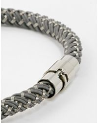 Seven London | Metallic Steel Woven Bracelet for Men | Lyst