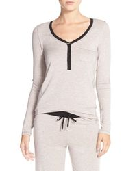DKNY | Natural 'chrystie' Pajama Top | Lyst