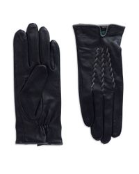Lauren by Ralph Lauren | Black Leather Gloves | Lyst