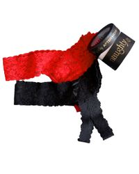 Hanky Panky   Black Two-pack After Midnight Naughty And Nice Thongs   Lyst