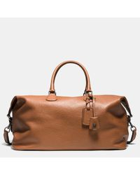 COACH | Brown Explorer Bag 52 In Pebble Leather for Men | Lyst