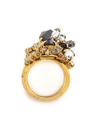 Aerin Erickson Beamon - Black Oversized Crystal Statement Ring - Lyst