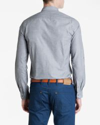 Ted Baker | Blue Cotton Roll Sleeve Shirt for Men | Lyst