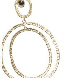 Ileana Makri | Metallic Yellow-Gold Again Hoop Earrings | Lyst