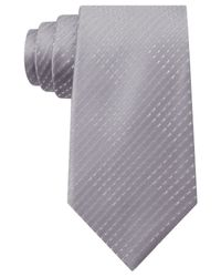Sean John - Gray Opt Geo Unsolid Solid Tie for Men - Lyst