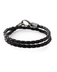 Tod's | Black Braided Bracelet for Men | Lyst