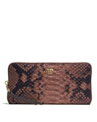 COACH - Multicolor Madison Accordion Zip Wallet In Diamond Python Leather - Lyst